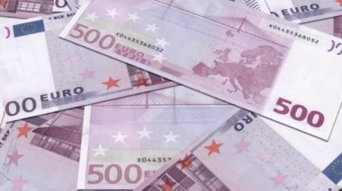 Euro Money 500 banknotes background — Wideo stockowe