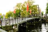 Amsterdam bridge — Stock Photo