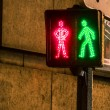 Pedestrian cross sign - Stock Photo