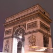 Stock Photo: Arc de triomphe at night