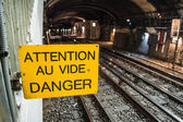 Attention vide panneau — Stock Photo
