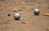 Jeu de pétanque — Stock Photo