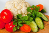 Vegetable on the board — Stock Photo