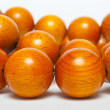 Stock Photo: Huge wood beads