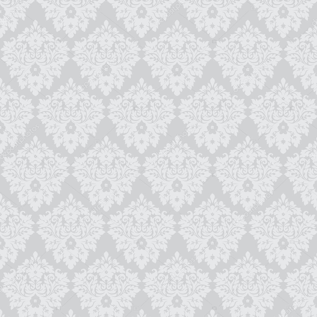 Silver Damask Wallpaper U2014 Stock Vector C Lilalove 13475789