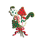 Christmas cookie bouquet — Stock Vector