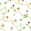 Rose Seamless Pattern - Vettoriali Stock