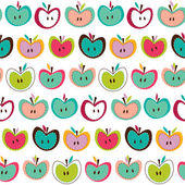 Cute apple seamless pattern — Stock Vector
