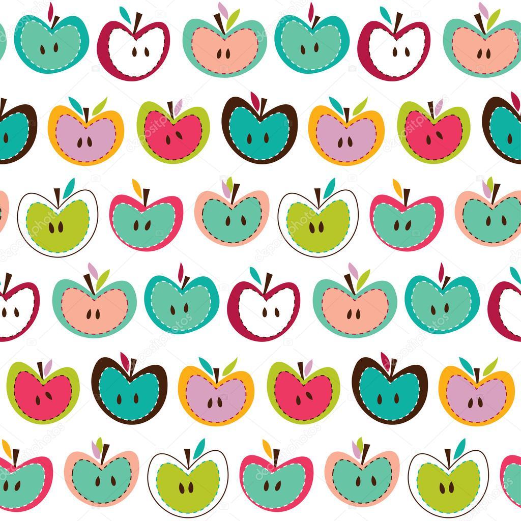Cute apple seamless pa...