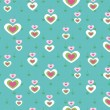 Cute apple seamless pattern - Stock Vector