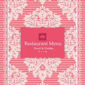Pink Menu Design — Stock Vector