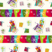 Seamless Pattern with Presents — Stock Vector