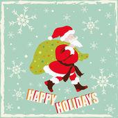 Happy Holidays With Santa Claus — Stock Vector