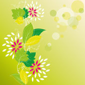 Floral Background With Spring Ivy — Vector de stock