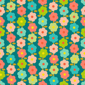 Vintage Seamless Pattern With Small Flowers — Stock Vector