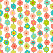 Retro Seamless Pattern With Small Flowers — Stock Vector