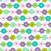 Seamless Background With Small Daisies — Stock Vector