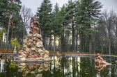 Fountain at palace gardens of La Granja de san Ildefonso , Segovia castile and Leon Spain. — Stock Photo