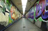 Grafiti kentsel tünel — Stok fotoğraf