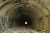 Dark railway abandoned Tunnel — Foto de Stock