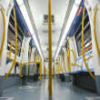 MADRID - DECEMBER 21: Inside an empty newest , Metro subway train on December 21, 2012 in Madrid. — Stock Photo