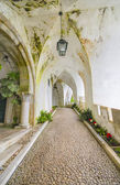 Starożytne korytarza w zamku da pena w sintra, portugalia — Zdjęcie stockowe