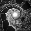 Masonic initiation well in Quinta da Regaleira, Sintra, Portugal. — Stock Photo