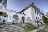 Abandoned building at dusk — Stock Photo