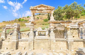 Fountain of Trajan in ancient city of Ephesus, Turkey — Stockfoto