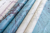 Blueprint old rolls — Stock Photo