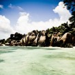 Seychelles beach - Stock Photo