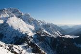 High mountain peaks with snow — Stok fotoğraf