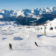 Snowpark at Madonna di Campiglio, Italy — Stock Photo