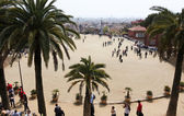 Great square of Park guell — Stock Photo