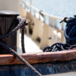 Stock Photo: Old boat rope anchorage