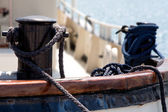 Old boat rope anchorage — Stock Photo