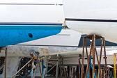 Barcos de vela en el cobertizo — Foto de Stock