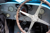 Old car instrumental panel — Stock Photo