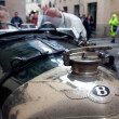 Old time Bentley  at Mille miglia — Stock Photo