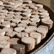Stock Photo: Used wine corks collection