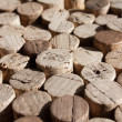 Used wine corks collection — Stock Photo