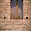 Arched window on brick wall — Stock Photo