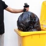 Trash bin, isolated on white — Stock Photo #35303543