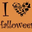 I love Halloween — Vector de stock #13526696