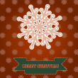 Christmas card with pink snowflake — Stock vektor