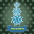 Christmas card with snowflakes — Imagen vectorial