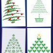 Collection of Christmas trees 01 — Stock Vector