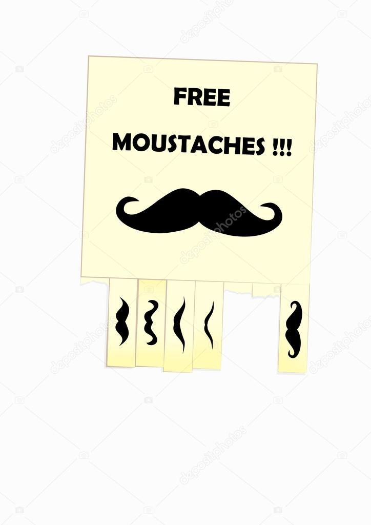 Notice of free moustaches for your design — Stock Vector #13563769