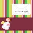 Angel with a letter — Imagen vectorial