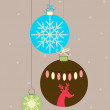 Balls for Christmas — Stock Vector